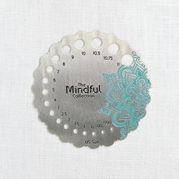 Image of Knitter's Pride Mindful Collection Sterling Silver Plated Needle Gauge
