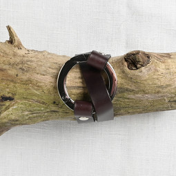 Image of JUL Designs Round Ring Shawl Cuff, Espresso w/ Nickel Hardware