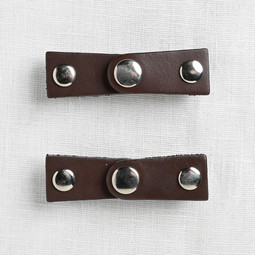 Image of JUL Designs The Latch Leather Closure, Chocolate Brown w/ Nickel Hardware
