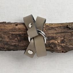 Image of JUL Designs Tiny Ring Shawl Cuff/ Bracelet, Pewter w/ Nickel Hardware