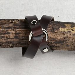 Image of JUL Designs Tiny Ring Shawl Cuff/ Bracelet, Espresso w/ Nickel Hardware