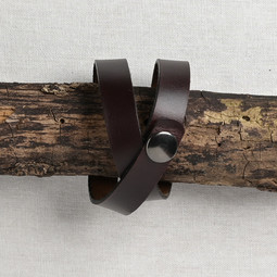 Image of JUL Designs Simple Snap Shawl Cuff/Bracelet, Espresso w/ Gunmetal Hardware