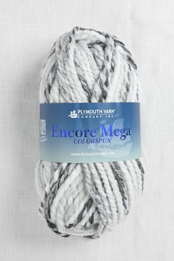Image of Plymouth Encore Mega Colorspun 7153 White Grey