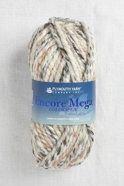 Image of Plymouth Encore Mega Colorspun 7154 White-Taupe