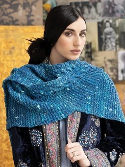 Image of #11 Simple Cabled Shawl