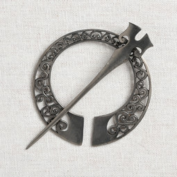 Image of JUL Designs Runa Penannular Brooch, White Brass