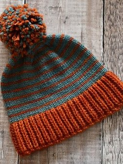 Image of Tarma Stripy bobble hat