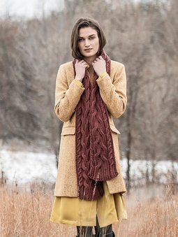 Image of Edina Cabled Scarf