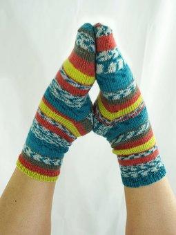 Image of Simple Printed Socks