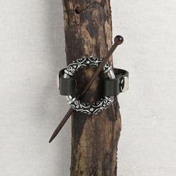 Image of JUL Designs Pewter Filigree Cuff & Shawl Pin, Black w/ Rosewood