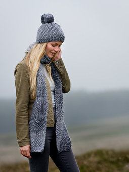 Image of Heather Hat & Scarf