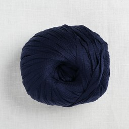 Image of Wool and the Gang Tina Tape Yarn 55 Midnight Blue