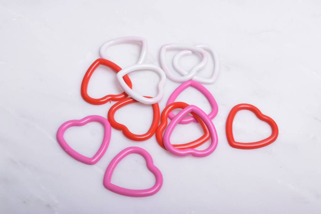 Image of Susan Bates Heart Shaped Stitch Markers 15ct.