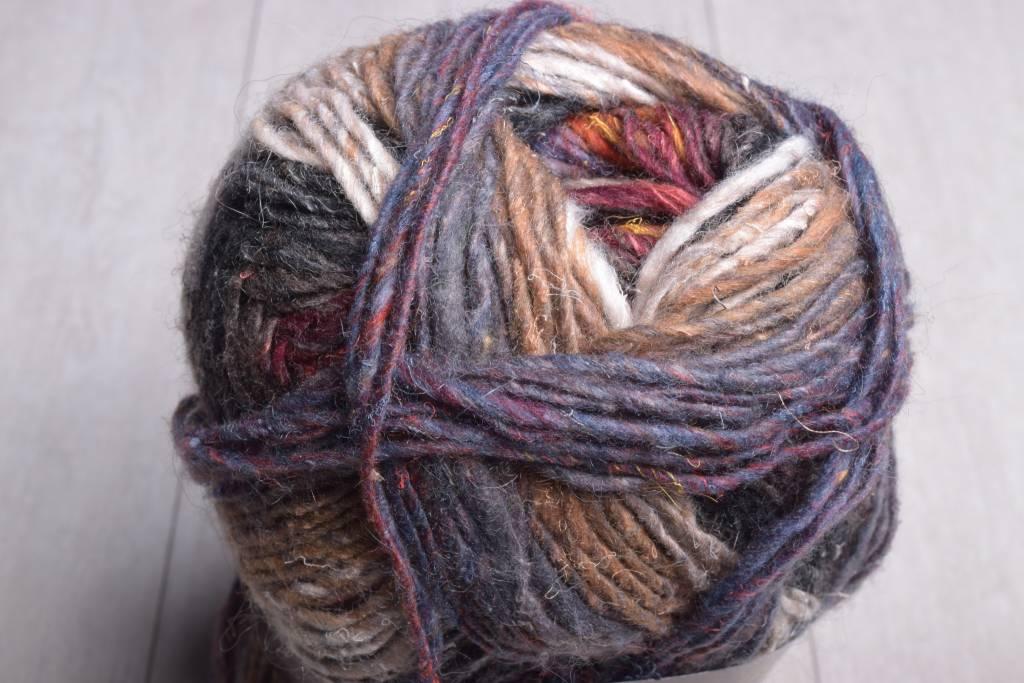 Image of Noro Silk Garden Sock Yarn S349 Burnt Orange Charcoal Brown Burgundy