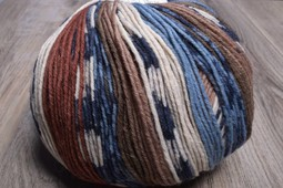 Image of ONline Supersocke 8-Ply 1849 Brown Blue Natural