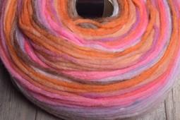 Image of Noro Rainbow Roll 1011 Orange, Pink