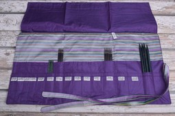 Image of Della Q Double Point Needle Roll 158-1, 18 Purple Stripe