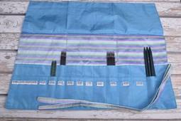 Image of Della Q Double Point Needle Roll 158-1, 23 Ocean Stripe