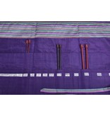 Image of Della Q Straight Needles Roll Case 151-1, 18 Purple Stripe