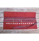 Image of Della Q Crochet Hook Roll Case 168-2, 4 Red Stripe