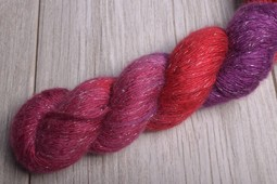 Image of Artyarns Cashmere Glitter Silver Scarlet Magenta