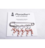 Image of Paradise Charming Stitch Markers Candy Cane