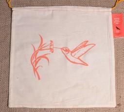 Image of Pretty Cheep Project Bag, Hummingbird (Orange)