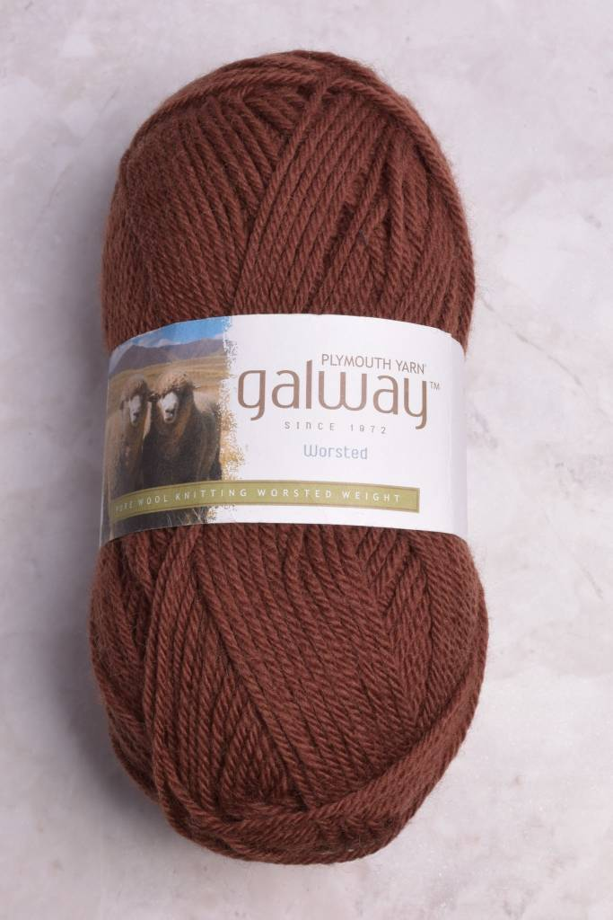 Image of Plymouth Galway Worsted 168 Milk Chocolate (Discontinued)