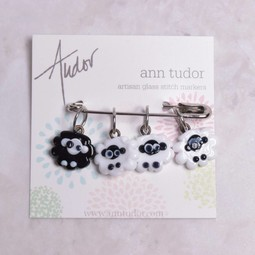 Image of Ann Tudor Stitch Markers, Black Sheep, Small