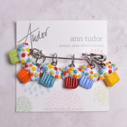 Image of Ann Tudor Stitch Markers, Cupcakes, Small