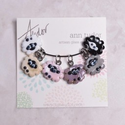 Image of Ann Tudor Stitch Markers, Sheep Flock Soft Neutrals, Extra Small