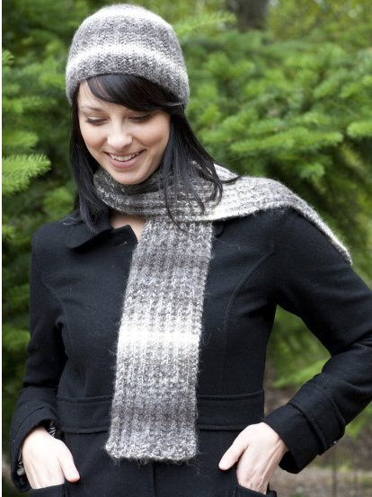 Wool & Co. Feature Pattern of the Week - Magic Rib Hat & Scarf