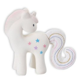 TIKIRI TIKIRI FAIRYTALES UNICORN RUBBER RATTLE