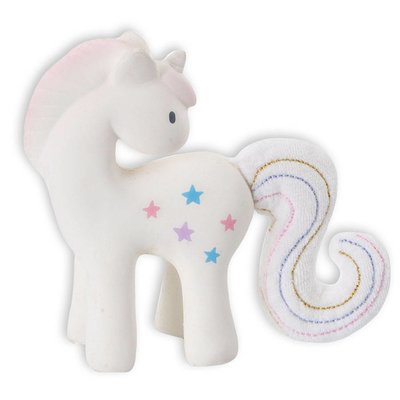 GREAT PRETENDERS TIKIRI FAIRYTALES UNICORN RUBBER RATTLE