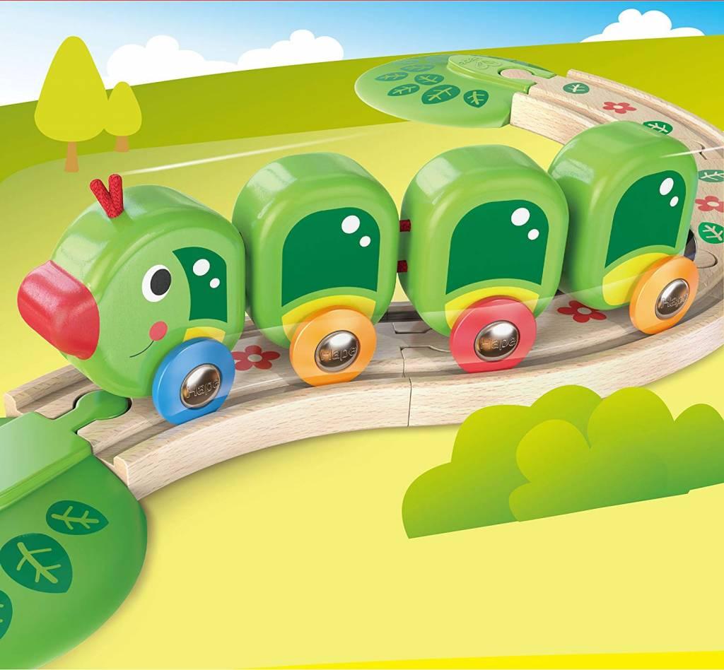 HAPE CATERPILLAR TRAIN SET HAPE