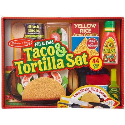 MELISSA AND DOUG FILL & FOLD TACO & TORTILLA SET
