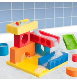 JUST THINK TOYS BATHBLOCKS FLOATING BALL RUN & WATERFALL SET