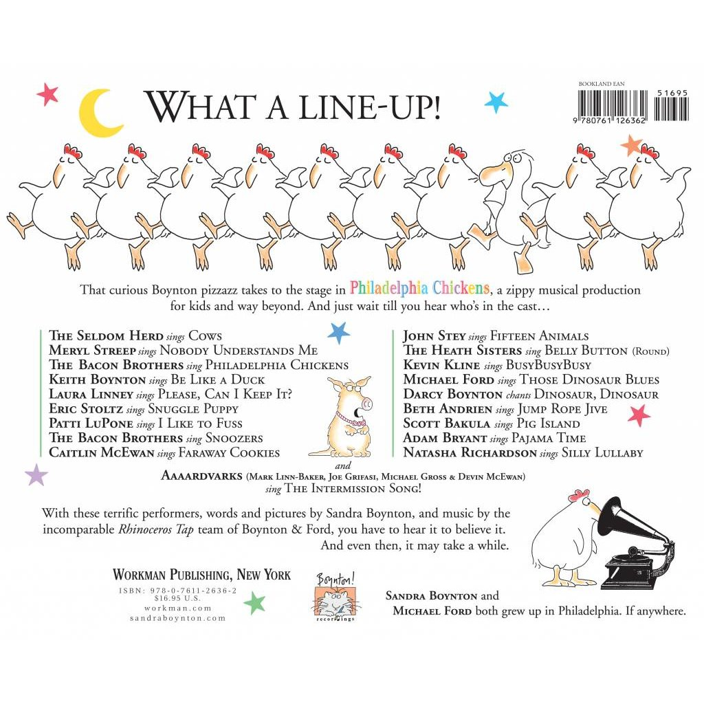 WORKMAN PUBLISHING PHILADELPHIA CHICKENS W/CD