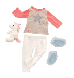 """BATTAT / TGTG IMPORT OUR GENERATION 18"""" DOLL UNICORN WISHES OUTFIT"""