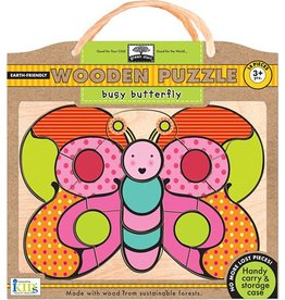 INNOVATIVE KIDS BOOK BUSY BUTTERFLY 14 PC PUZZLE