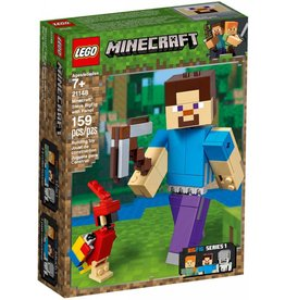 LEGO STEVE BIGFIG WITH PARROT