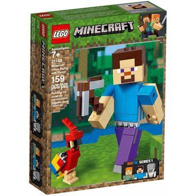 LEGO STEVE BIGFIG WITH PARROT*