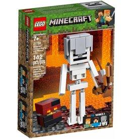 LEGO SKELETON BIGFIG WITH MAGMA CUBE