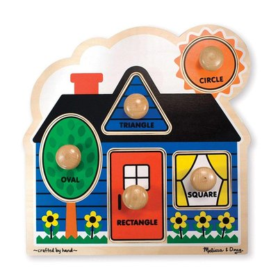 MELISSA AND DOUG FIRST SHAPES HOUSE KNOB PUZZLE