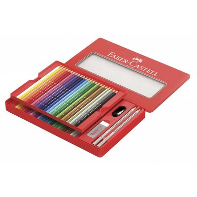 FABER CASTELL CLASSIC COLOR PENCIL & SKETCHING TIN
