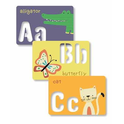 CR GIBSON ABC STENCIL CARDS