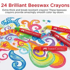 FABER CASTELL BRILLIANT BEESWAX CRAYONS