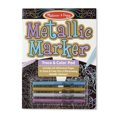 MELISSA AND DOUG METALLIC MARKER TRACE & COLOR PAD*