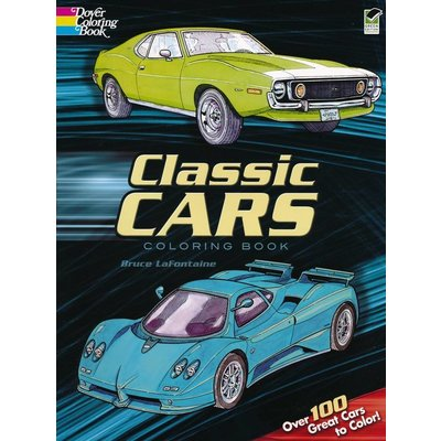 DOVER PUBLICATIONS CLASSIC CARS COLORING BOOK
