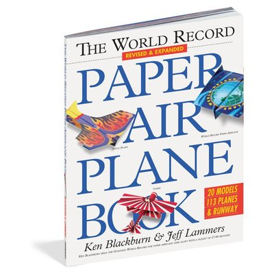 WORKMAN PUBLISHING WORLD RECORD PAPER AIRPLANE BOOK
